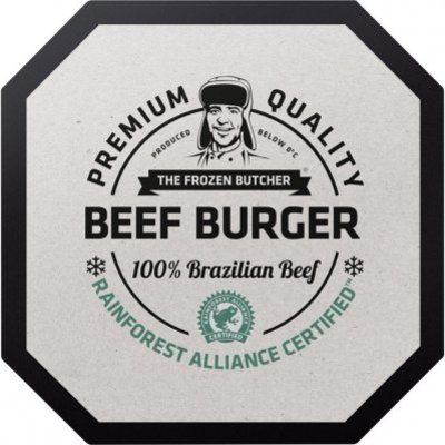 The Frozen Butcher Beef burger 100% Brazilian beef