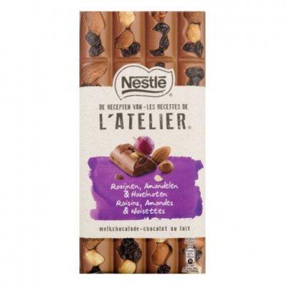 L'Atelier Melk rozijn amandel en hazelnoot