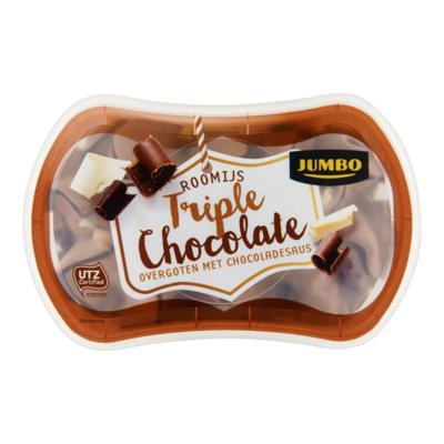 Huismerk Roomijs Triple Chocolate