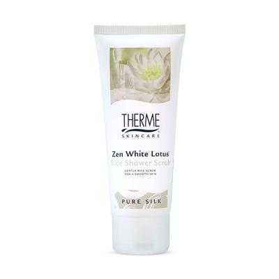 Therme Zen white lotus rice shower scrub