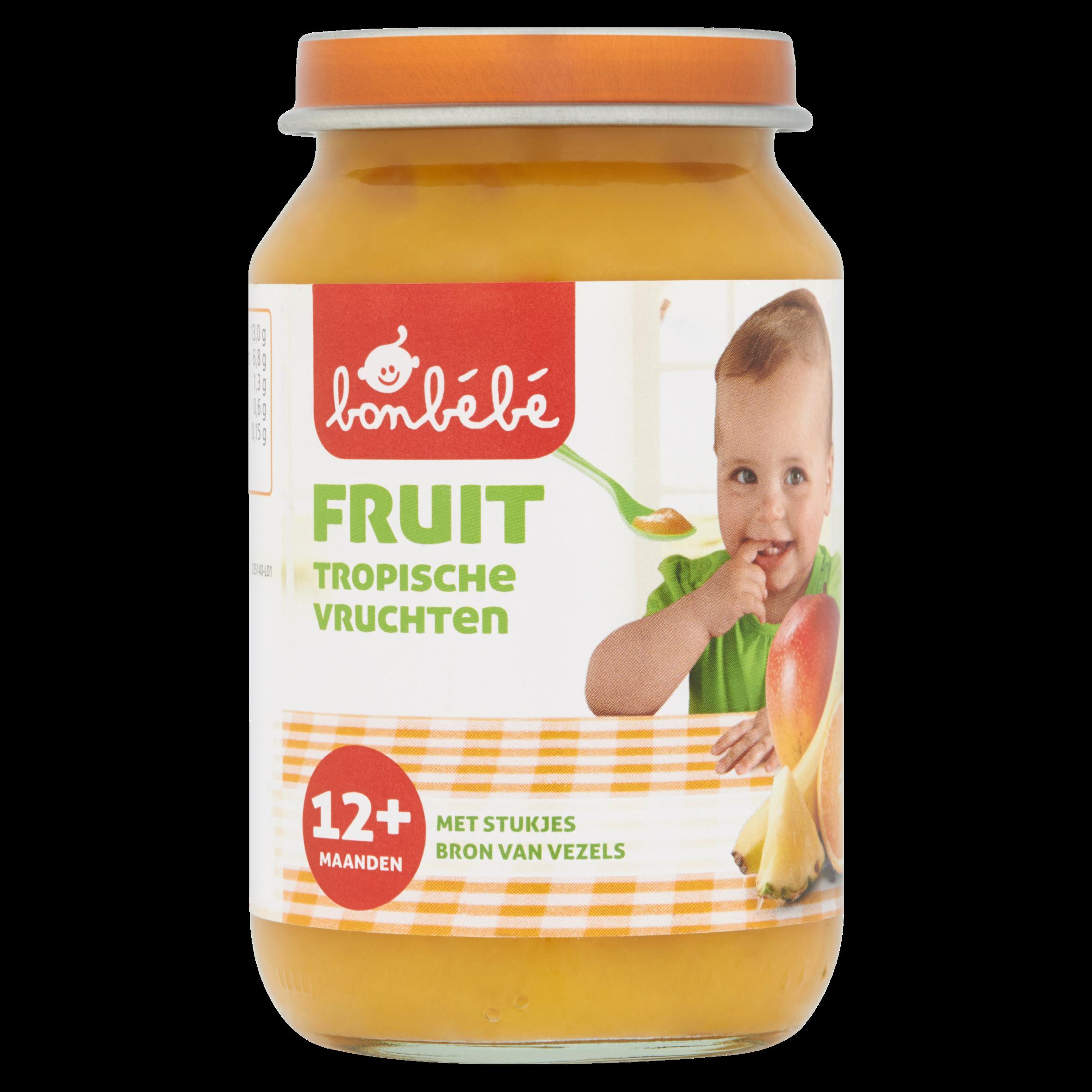 Huismerk Fruit Tropische Vruchten 12+ Maanden 190 g