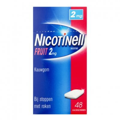 Nicotinell Fruit kauwgom 2mg stoppen met roken