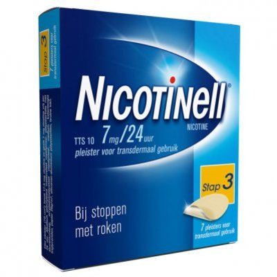Nicotinell Pleister 7mg/24u stoppen met roken