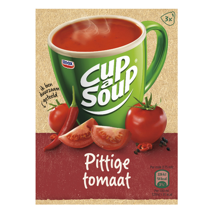 Unox Cup-a-soup pittige tomaat