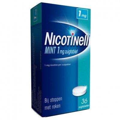 Nicotinell Mint zuigtablet 1mg stoppen met roken