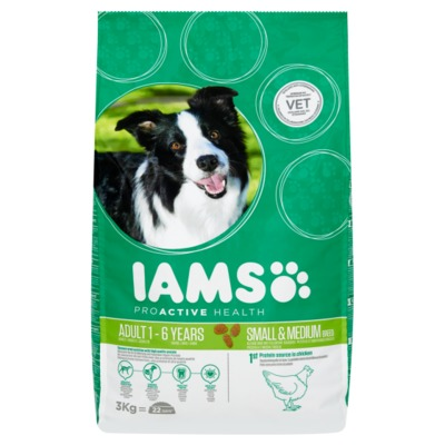 Iams proactive adult small & medium 1-6 jaar zak 3 kilo