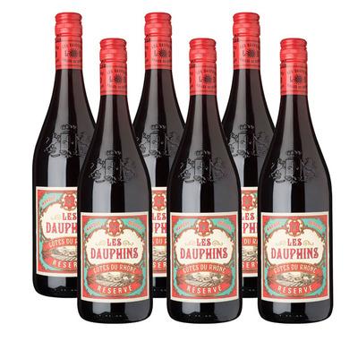 Les Dauphins 6 x Côtes du Rhône rouge