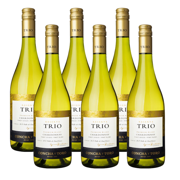 Trio 6 x Chardonnay Pinot Grigio Pinot Blanc