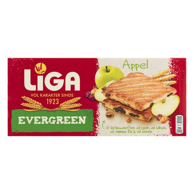 Liga Evergreen biscuits appel