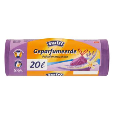 Swirl Geparfumeerde Pedaalemmerzakken Vanille-Lavendel 20 L