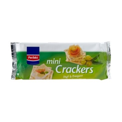 Perfekt Mini crackers olijf & oregano