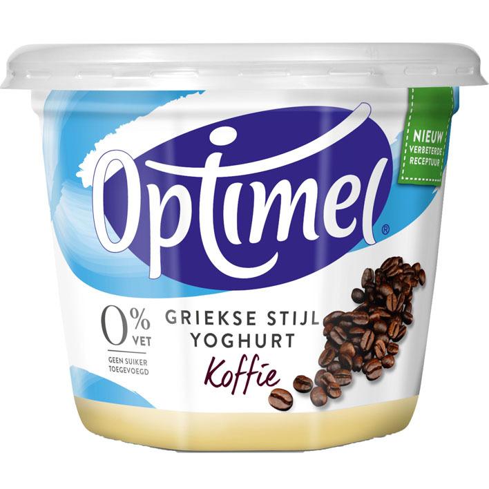 Optimel Magere griekse stijl yoghurt koffie