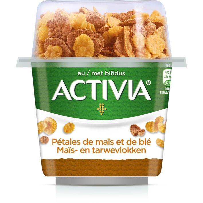 Danone Activia yoghurt breakfast
