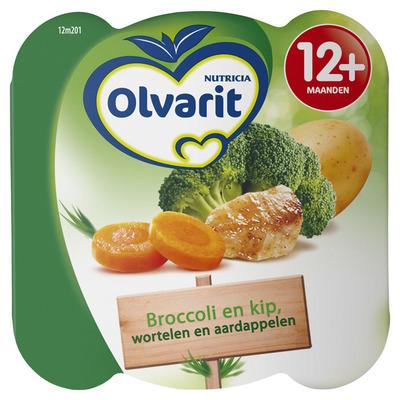 Olvarit Peutermenu broccoli en kip 12+ mnd