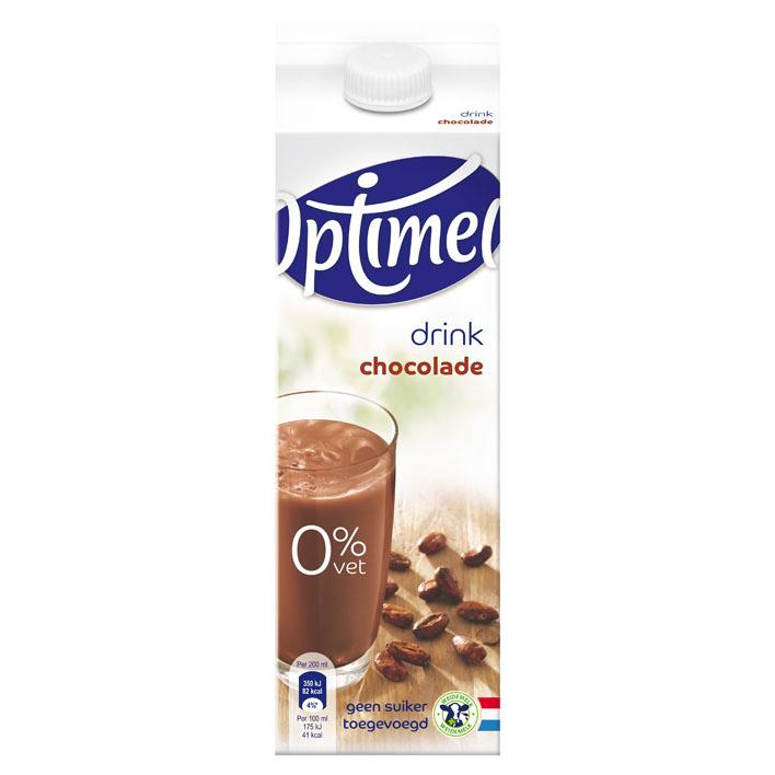Optimel Chocoladedrink 0% vet