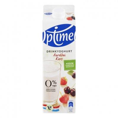 Optimel Drinkyoghurt aardbei-kers 0% vet