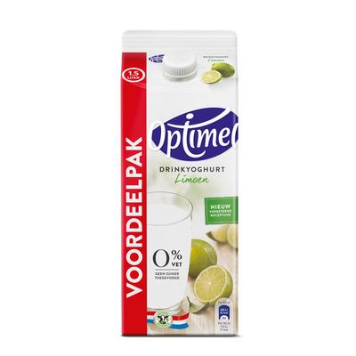 Optimel Drinkyoghurt limoen 0% vet