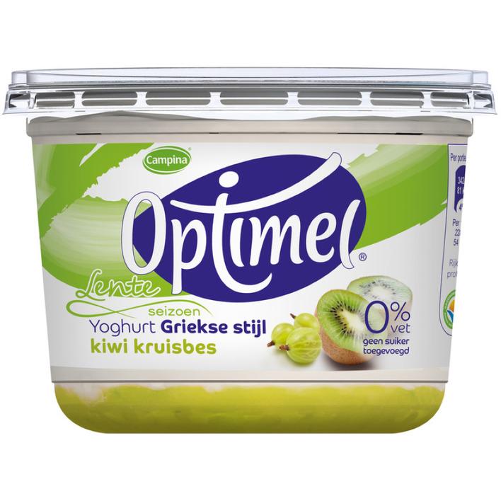 Optimel Magere Griekse yoghurt kiwi kruisbes