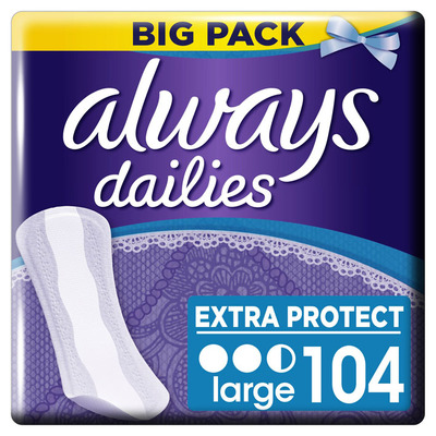 Always Dailies extra protect inlegkruisjes