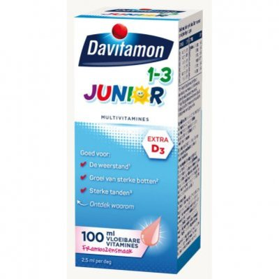 Davitamon Junior multivitamines framboos 1-3 jaar
