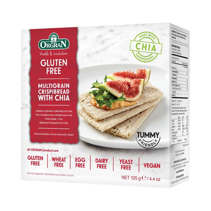Orgran Multigrain crispy bread with chia