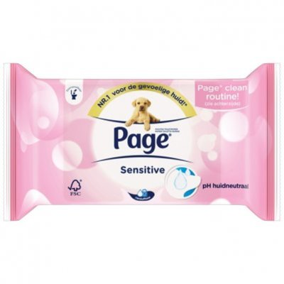 Page Vochtig toiletpapier sensitive