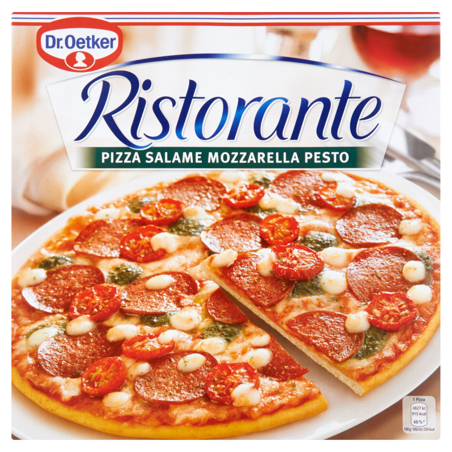 Dr. Oetker Pizza Ristorante salame-mozzarella-pesto