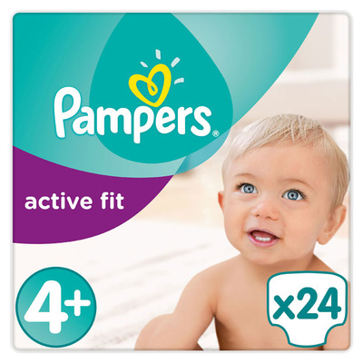 Pampers Active fit luiers maat 4+ (maxi+) 9-20kg