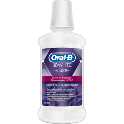 Oral-B Mondwater 3d white luxe