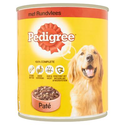 Pedigree Hondenvoer Nat Paté Rund Blik 800 g