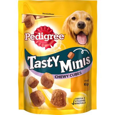 Pedigree Hondensnacks tasty minis chewy cubes kip
