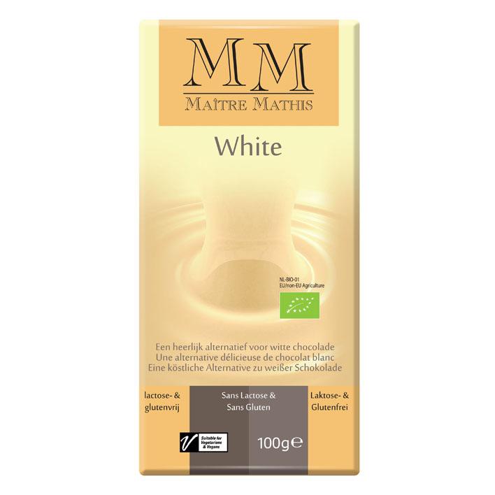 Maitre Mathis Rice milk white bar vegan gluten free