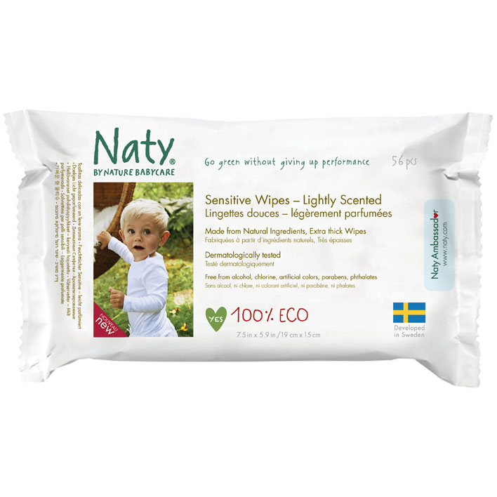 Naty Eco sensitive wipes scented