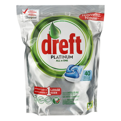 Dreft Platinum all-in-one blue