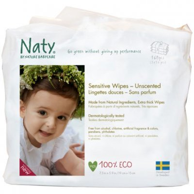 Naty Eco sensitive wipes unscented