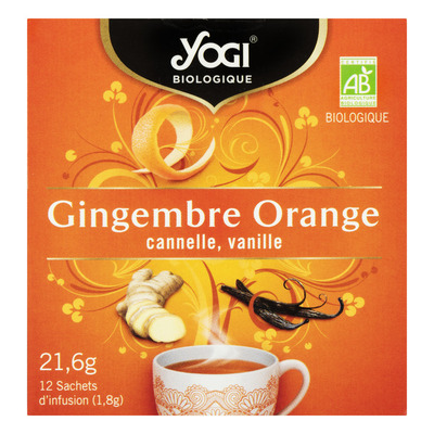 Yogi Ginger orange bio