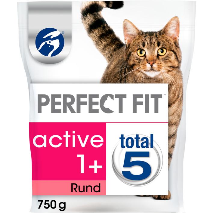 Perfect fit Kattenvoer droog rund active 1+ jaar