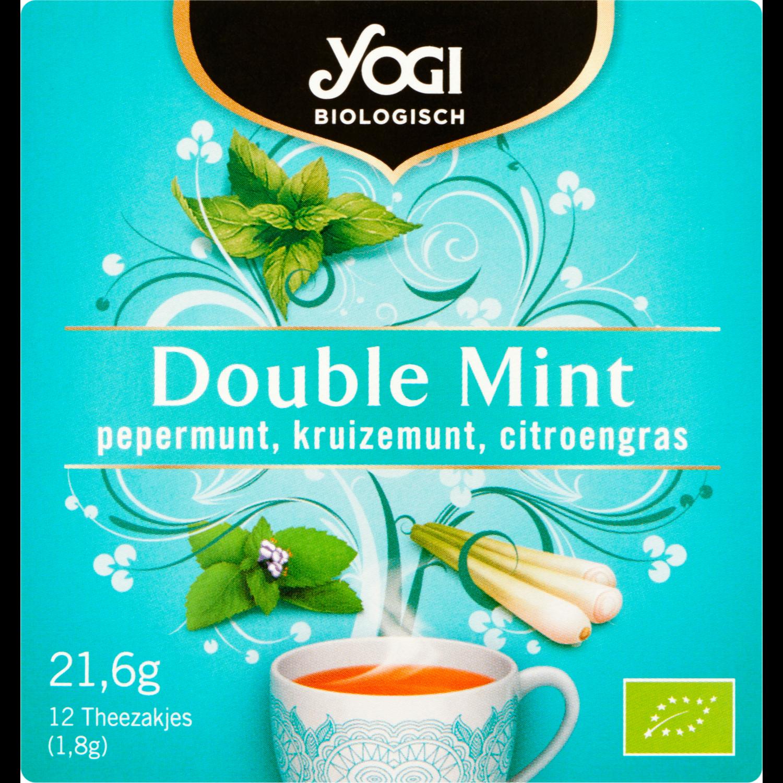 Yogi Tea Biologisch double mint 12 zakjes