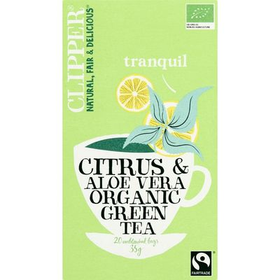 Clipper Green tea citrus & aloe vera 1-kops