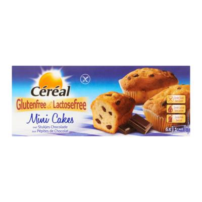 Céréal Glutenfree & Lactosefree Mini Cakes met Stukjes Chocolade 6 Stuks