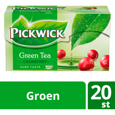 Pickwick Groene thee cranberry