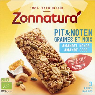 Zonnatura Noten amandel-kokos reep bio