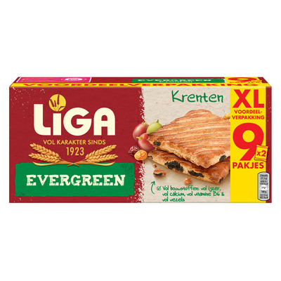 Liga Evergreen biscuits krenten XXL