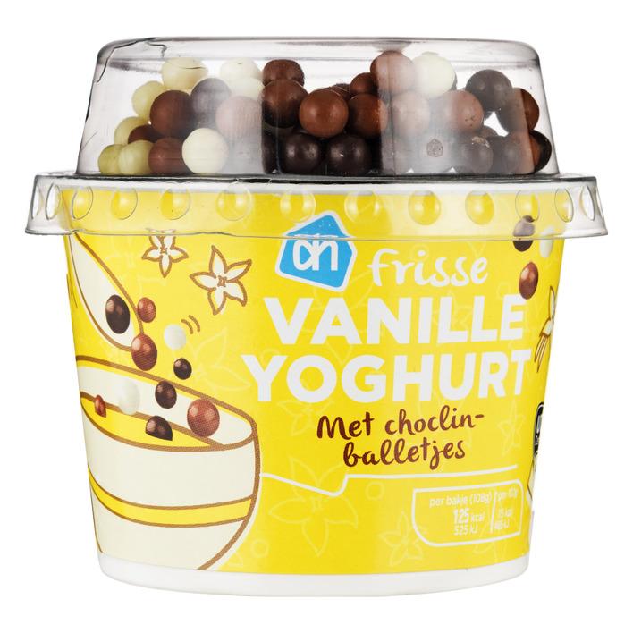 Huismerk Vanilleyoghurt met choclin balletjes