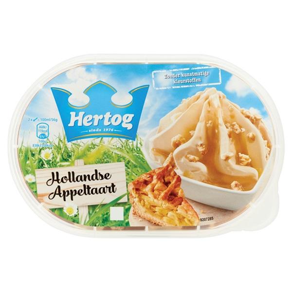 Hertog Hertog ijs Hollandse appeltaart