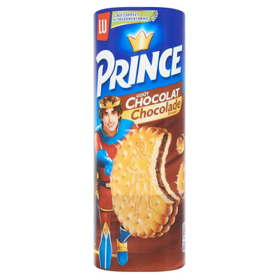 Prince Biscuits gevuld met chocolade
