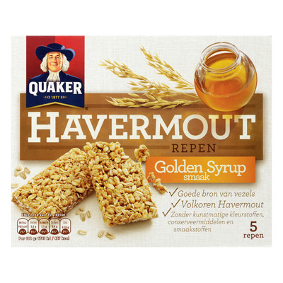 Quaker Havermoutrepen golden syrup