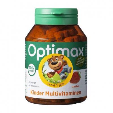 Optimax Kinder multivitaminen aardbei