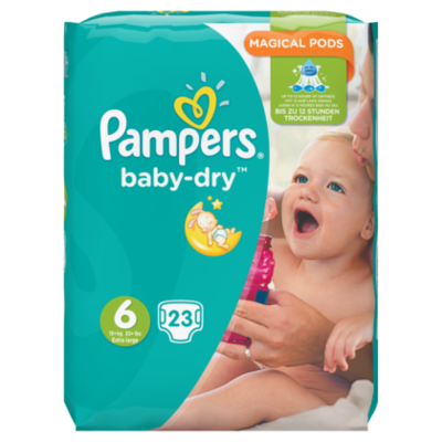 Pampers Baby-Dry, Maat 6 (Extra Large), 15+ kg, 23 Luiers