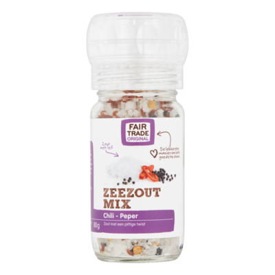 Fairtrade Original Zeezout Mix Peper en Chili